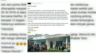 Tulis Status 'Marthabak Telor' Seorang Pria Dijemput Polisi