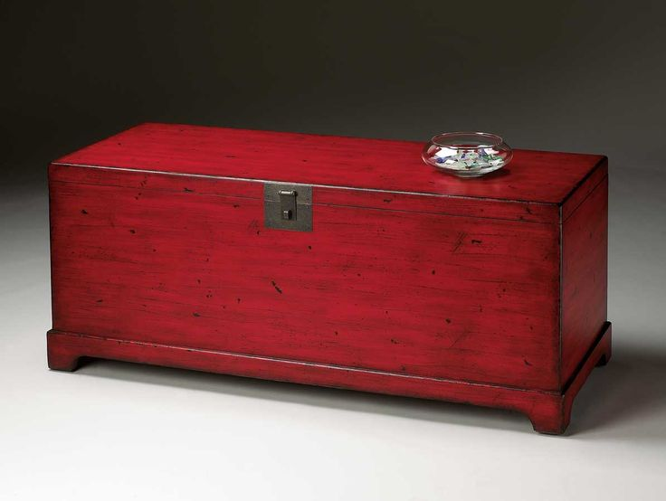 Butler Red Distressed Red Cocktail Trunk Modern Ideas Red Distressed  Furniture