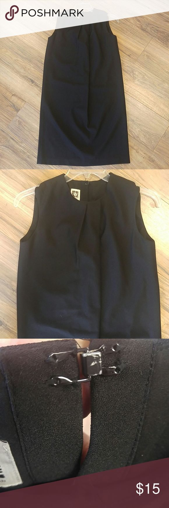 Classy Anne Klein black sheath dress size 6 Simple and non comforming. Polyester hangs and will not hug the body. I think this would be flattering as a maternity dress in early stages of pregnancy. Anne Klein Dresses Midi