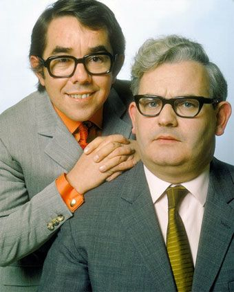 "Ronnie's Corbett & Barker. loved them ...when Saturday evening entertainment on the box was great. Robbie Corbett's Autobiography of the Two Ronnies ""And it's goodnight from him"" brought back great memories of their shows."