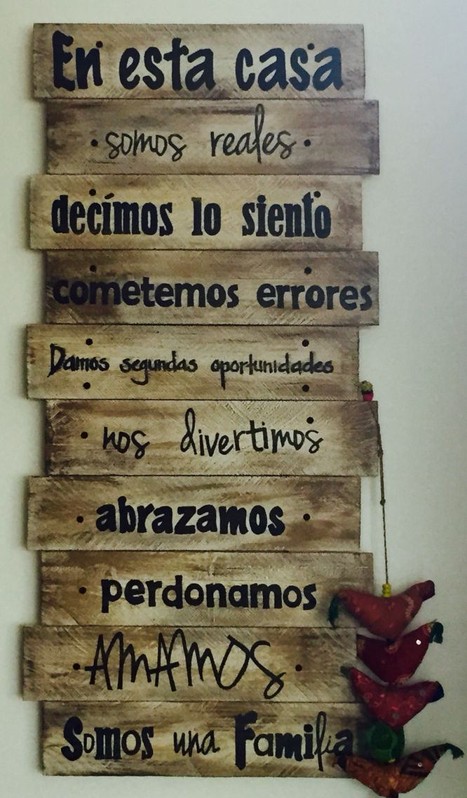 Reglas de la casa  #palets #pallets #palletfurniture #palletwood #reciclar