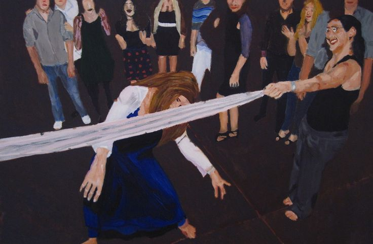 Wedding dance s oil on canvas w60x40 cm