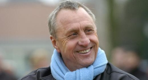 Johan Cruijff, soccer legend, was, among others, coach of Barcelona and Ajax (Amsterdam), great personality