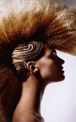 braided mohawk ... super crazy... Couldn't do it but very interesting