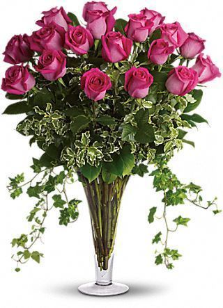 Dreaming in Pink - 18 Long Stemmed Premium Pink #Roses http://www.teleflora.com/flowers/bouquet/dreaming-in-pink--18-long-stemmed-premium-pink-roses-372774p.asp