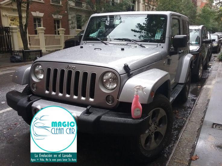 magiccleancarCliente Magic Clean Car, EL #Jeep brilla espectacular #Lavarsinagua - Deja Tu Auto Limpio, brillante y protegido sin utilizar una Gota de Agua