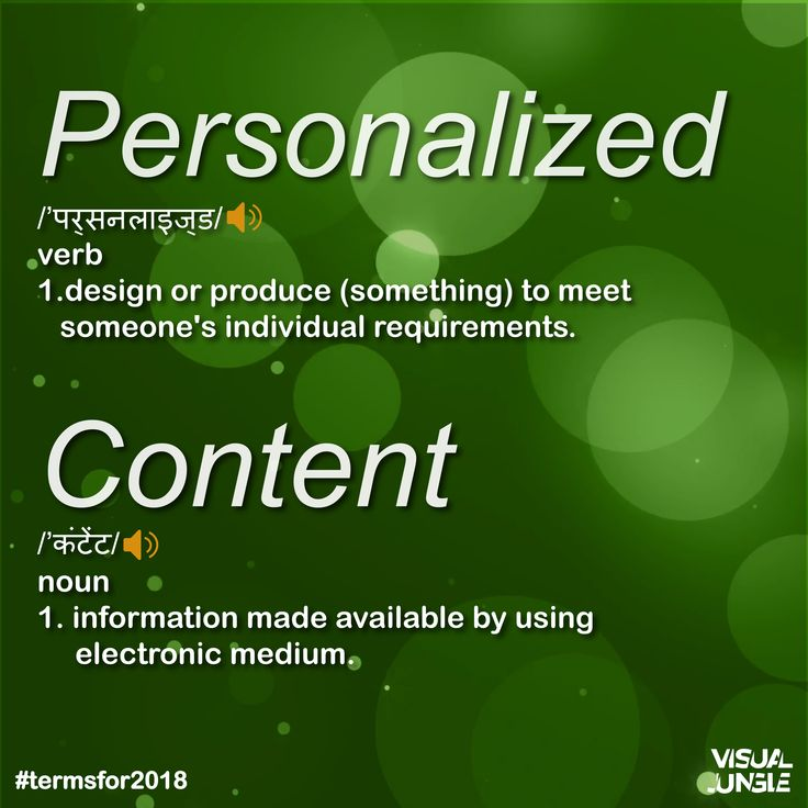 Delivering customized content that is tailored to a user's interests and reaches him or her at the right time, and in the right place.  Visit www.visualjungle.in . . . . . . #Termsfor2018 #VisualJungle #VisualJungleMedia #Branding #Design #Marketing #Strategy #SocialMedia #Technology #FollowUs #SocialMediaMarketing #MKTG #Art #Background #B2BMarketing #B2CMarketing #Friday #Personalized #Content #NewAgeMarketing