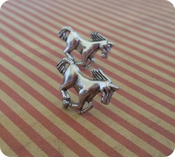 Check out this item in my Etsy shop https://www.etsy.com/au/listing/203235436/handmade-horse-charm-earrings-on-silver