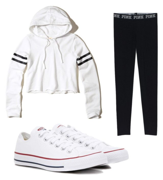 """""""Thank you guys so much for all my views!!"""" by briannaxbolivar on Polyvore featuring Converse and Hollister Co."""