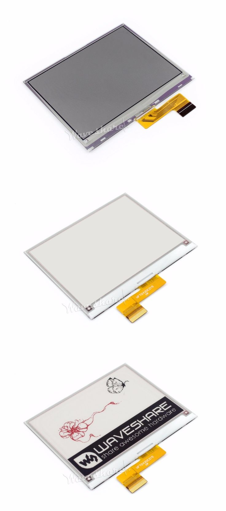 4.2inch E-Ink Raw Display 400x300 E-paper Red Black White Three-color Display SPI No PCB No Backlight Ultra low consumption