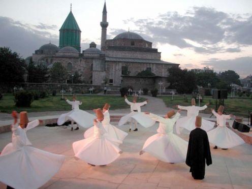 Burial site of Rumi in Konya, Turkey