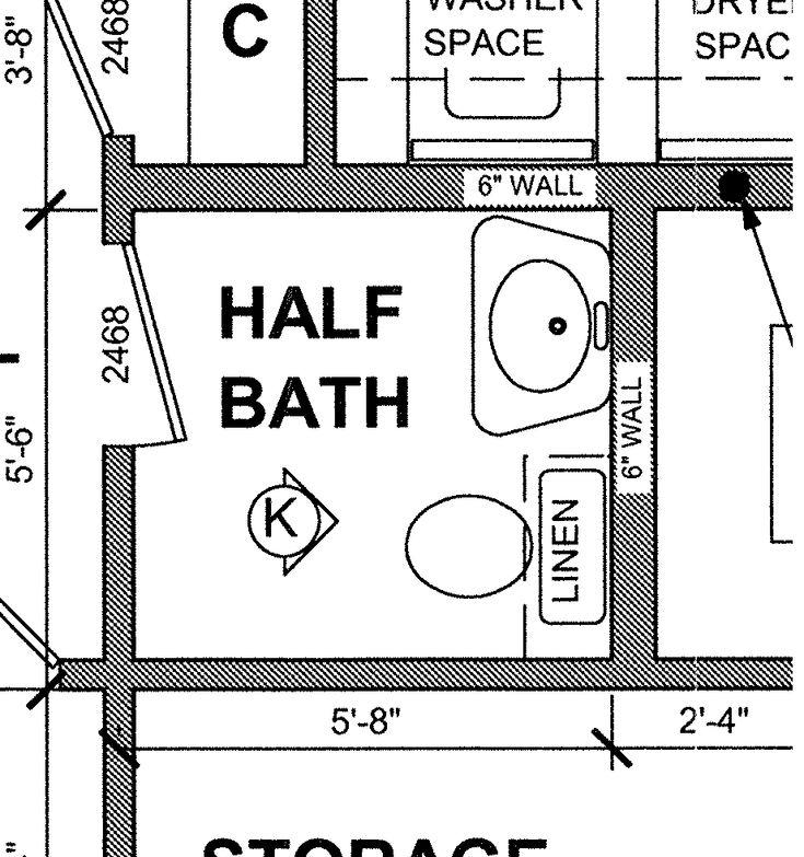 Small half bathroom floor plans google search tapas for Bathroom remodel 6x7