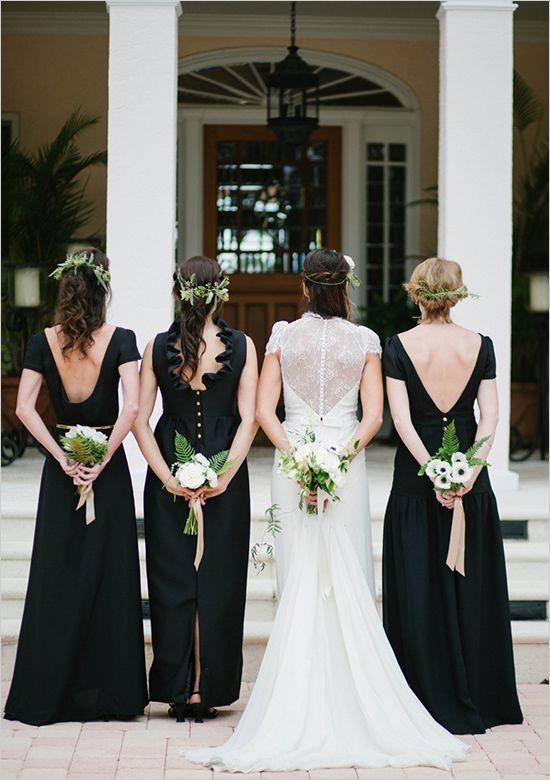 Black ensemble for bridal party. #weddingchicks http://www.weddingchicks.com/2014/07/01/zazzle/
