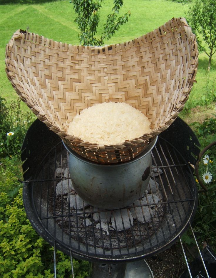 Lao Sticky Rice - read all about it. https://anteggsoup.wordpress.com/