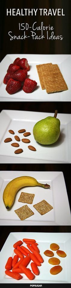 150 Calorie Snack Pack Ideas // perfect for travel, work and to have prepped ahead #healthy #weightloss