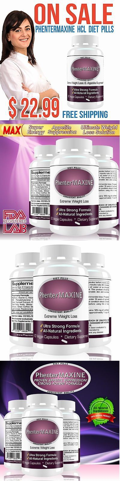 Appetite Control Suppressants: Phentermaxine Pharmaceutical Grade Quality Extra Strong Supplement, 60 Pills BUY IT NOW ONLY: $32.22