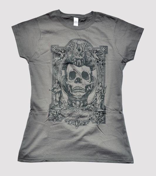 T-shirt color Grigio antracite 100 % cotone 160 gr. pre-ristretto con stampa serigrafica nera. Vestibilità regolare.