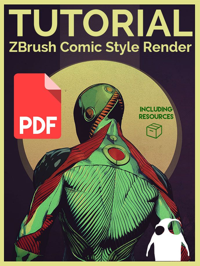 a few words about the process of developing the ZBrush Comic Style techniques for the eBook tutorial