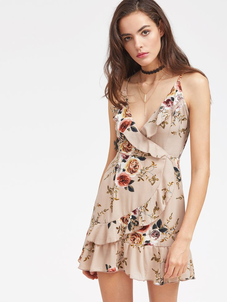 Shop Floral Ruffle Trim Slip Dress online. SheIn offers Floral Ruffle Trim Slip Dress & more to fit your fashionable needs.