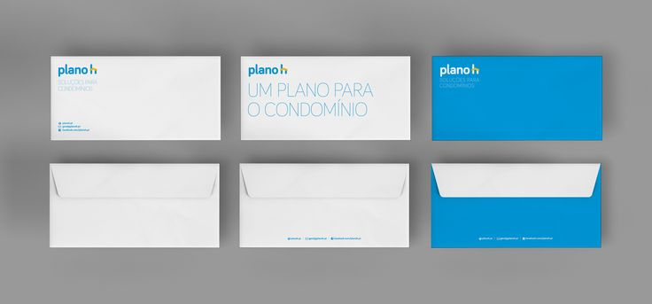 Envelope mockup for Planoh. 220x110 mm