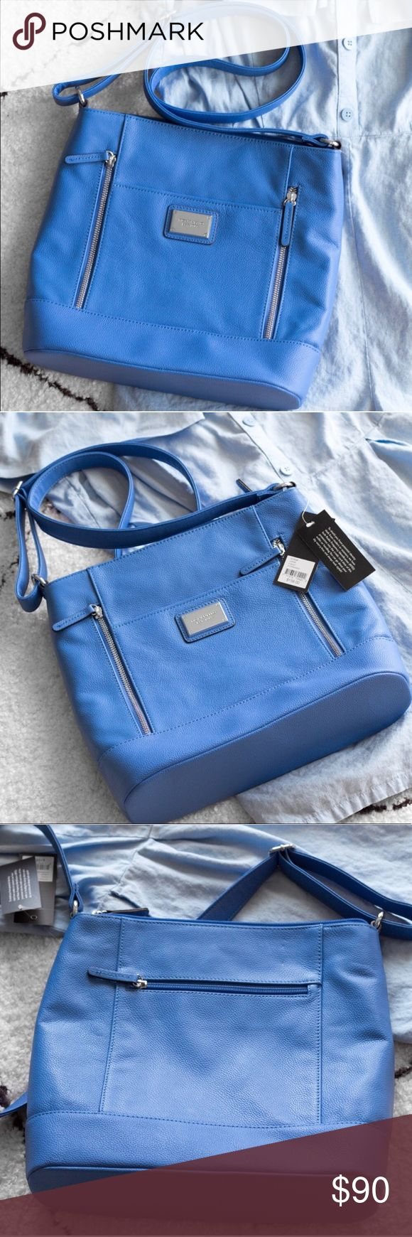 Tignanello Hydrangea Large Crossbody Bag Purse Brand new with tags. It has so many pockets and there's two separate sections inside the bag with pockets as well. Bags Crossbody Bags