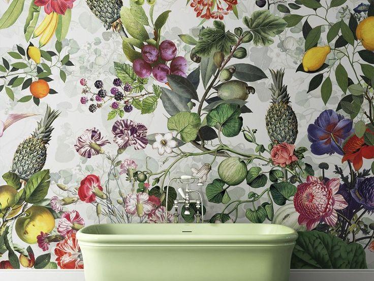 Carta da parati lavabile con motivi floreali BOTANICA Collezione Wallpaper By Devon&Devon design Vito Nesta