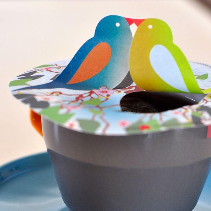 Een lieve blikvanger voor jou kopje thee. Zoenen ze of zoenen ze niet? Geef sfeer aan jouw theemomenten met de Steam Waverz love birds.