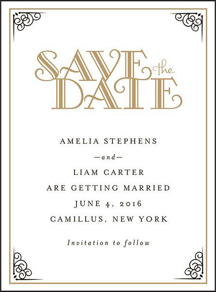 Letterpress Wedding Save the dates   Fitzgerald Design   Bella Figura Letterpress