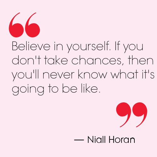 Niall Horan quote. Teen Vogue.