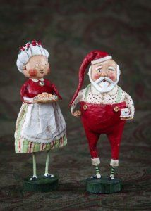 Mr. Claus  Design By:  Lori Mitchell  Material:  Poly Resin  Size:  7.5""