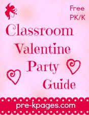 FREE Printable Classroom Valentine Party Guide for Preschool and Kindergarten