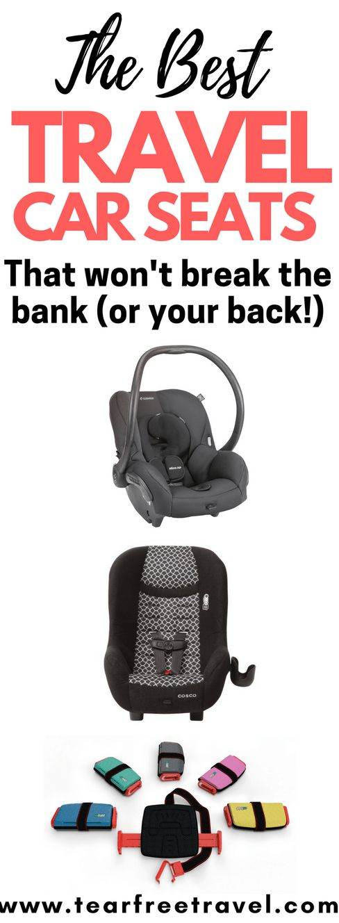 Wondering which travel car seat to bring on vacation? Car seat safety is just as important on vacation as it is at home.  Here are my top choices for the most lightweight portable car seats for every age group. I review the best baby travel car seat and toddler travel car seat and booster seats for your next vacation. I will also talk about travel car seat storage, using your travel car seat on the airplane and the car seat sticker needed for air travel.  #toddler #safety #carseat #baby