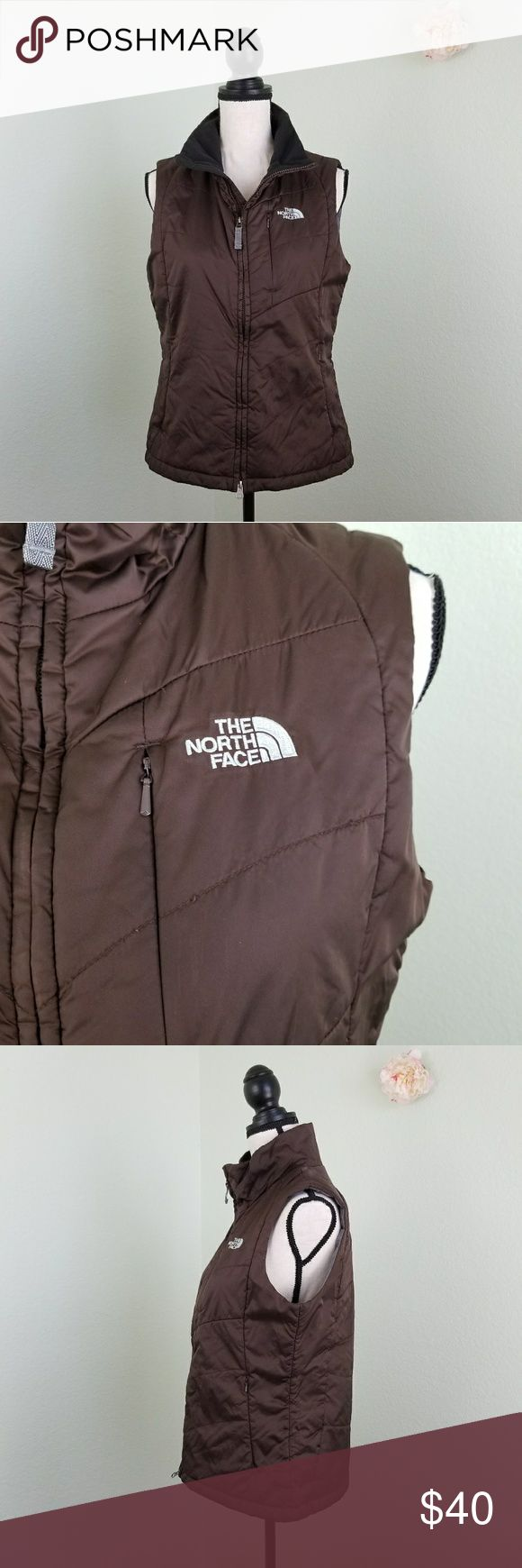 North Face light brown puffer vest Size medium North Face light brown puffer vest Size medium   Like new condition. Would look great with a long sleeve t-shirt and skinny jeans, add hunter boots! The North Face Jackets & Coats Vests