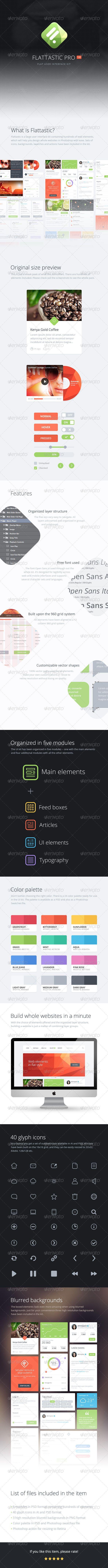 Flattastic Pro - User Interfaces Web Elements