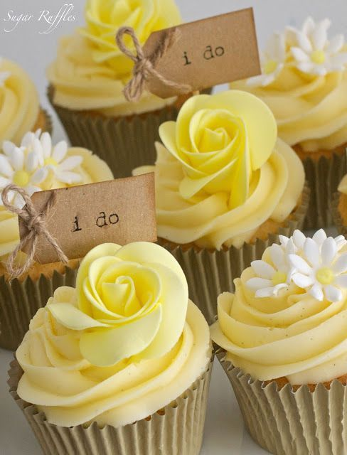 Yellow Wedding Cupcake