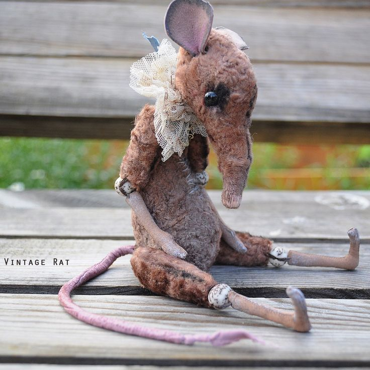 Vintage plush rats available for order with 10% Summer offer