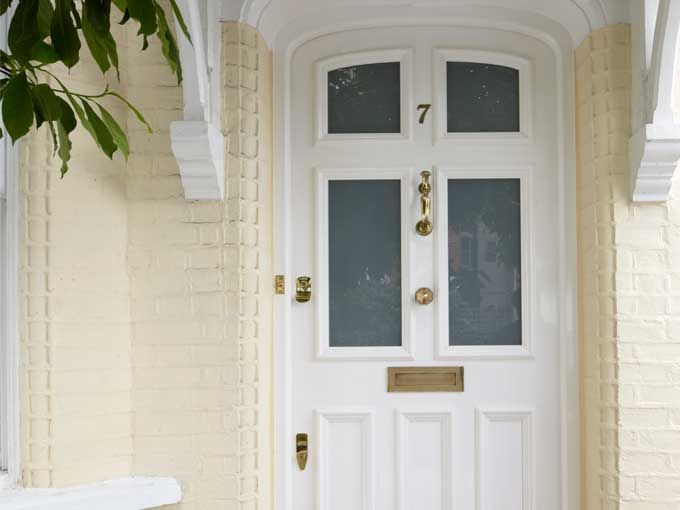 Beautiful timber period front door, made by the Sash Window workshop