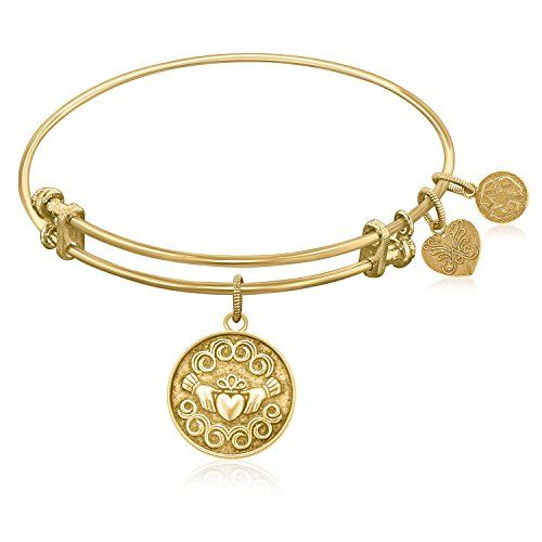 Expandable Bangle in Yellow Tone Brass with Claddagh Love... https://www.amazon.co.uk/dp/B00T3PQWW8/ref=cm_sw_r_pi_dp_x_Ejw8xb134M0WB