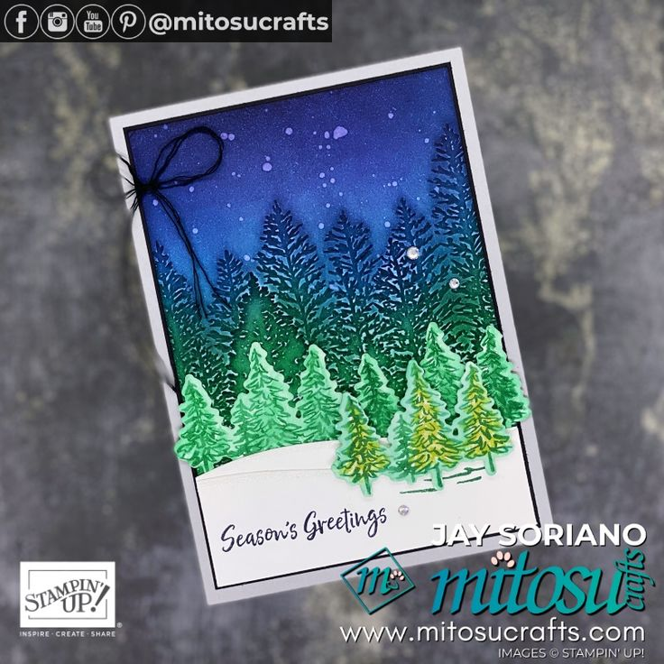NEW Evergreen Forest & In The Pines Bundle Mitosu Crafts