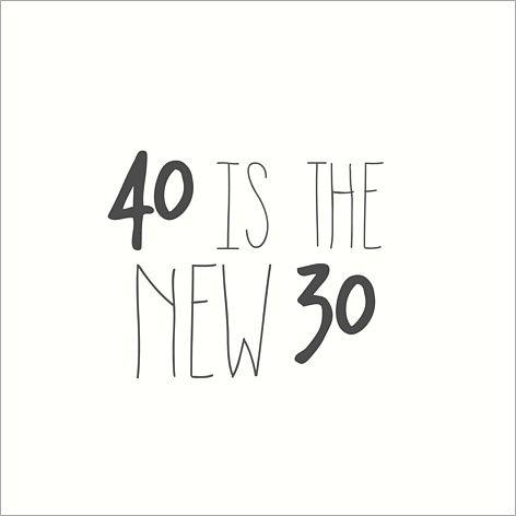 """Carte d'invitation anniversaire : Tendance / """"40 is the new 30"""" (âge modifiable) à personnaliser sur Popcarte.com"""