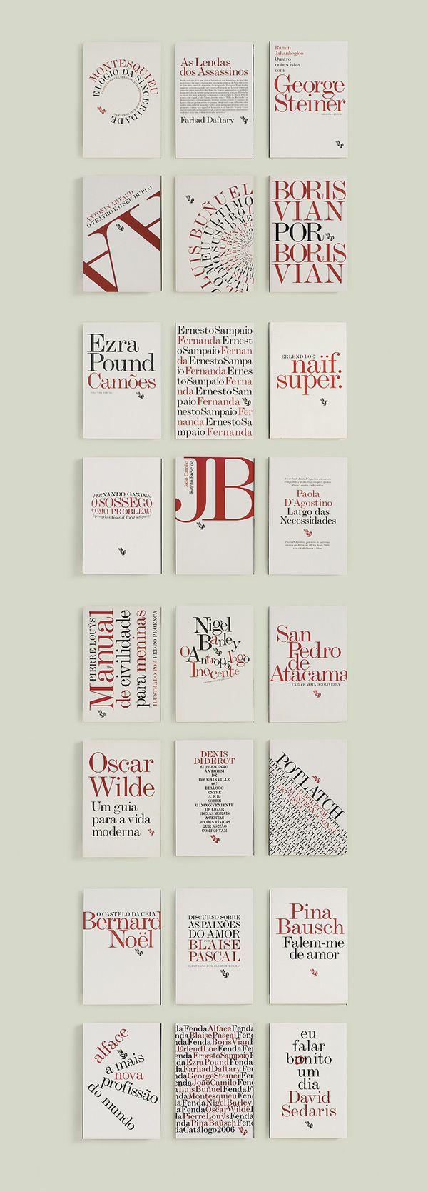 FENDA book series 2012. Type design