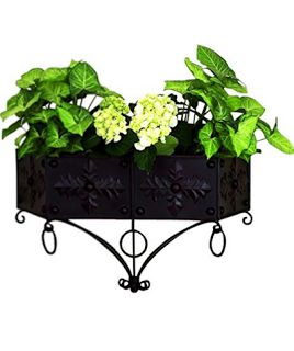 gothic iron wall mounted planter