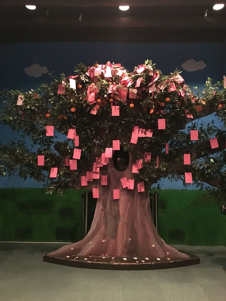 A wishing tree, part of the section that talks about Hong Kong's culture