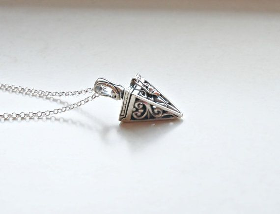 Silver prayer box necklace  sterling silver by crashandduchess, $37.00