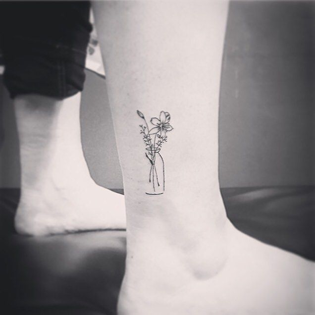 Image result for small lily tattoos