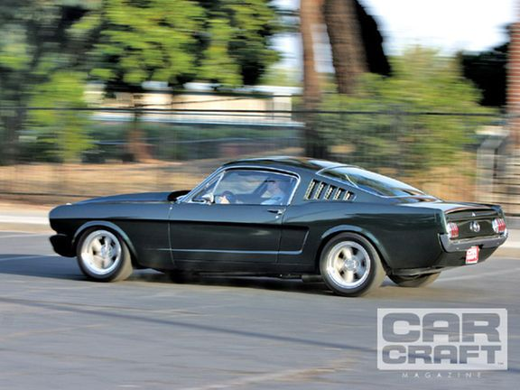 In this feature article we take a look at a 1965 Ford Mustang fastback is a custom restomod featuring a 382ci Windsor engine making 568 hp and 510 lb-ft torque and racing suspension - Car Craft Magazine