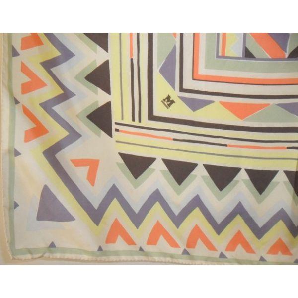 MISSONI foulard carré soie silk scarf tuch sciarpa missoni, luxe promotion