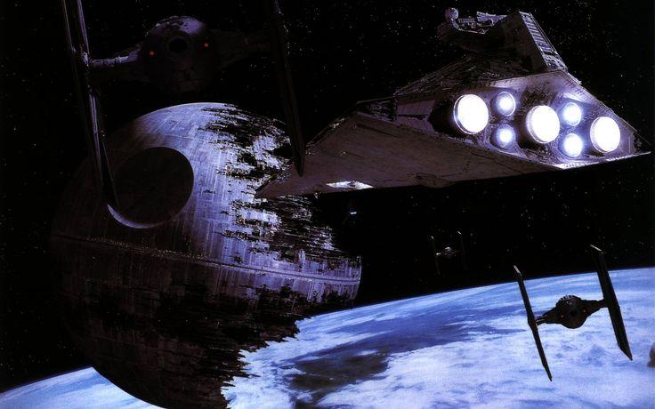 Películas La guerra de las galaxias  Death Star TIE Fighter Star Destroyer Fondo de Pantalla