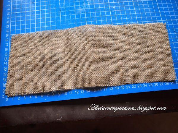 Tutorial broche de tela de saco tutorials tela and - Tela de saco ...