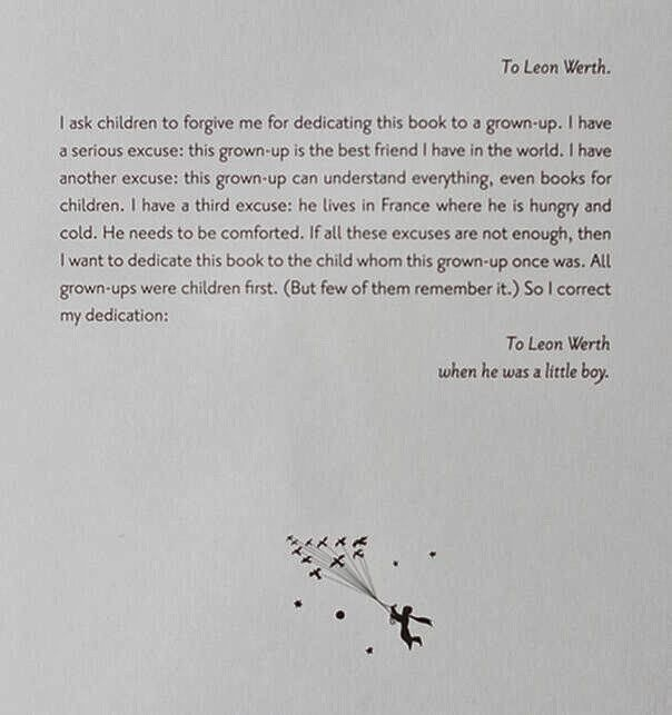 The Little Prince by Antoine de Saint-Exupéry | Community Post: 26 Of The Greatest Book Dedications You Will Ever Read